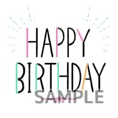 大人誕生日シンプル